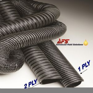 152mm I.D 1 Ply Neoprene Black Flexible Hot & Cold Air Ducting